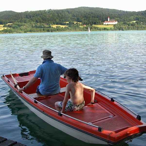 Bootfahren am Längsee in Kärnten